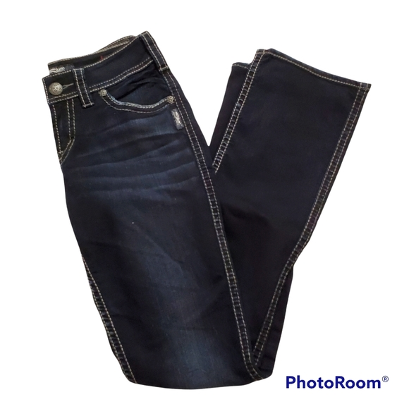 Silver jeans Suki midrise slim bootcut dark wash jeans size w27 l33